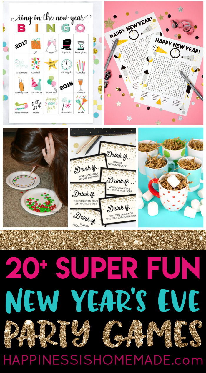 20+ Fun New Year's Eve Games - Happiness Is Homemade - Free Printable Recovery Games