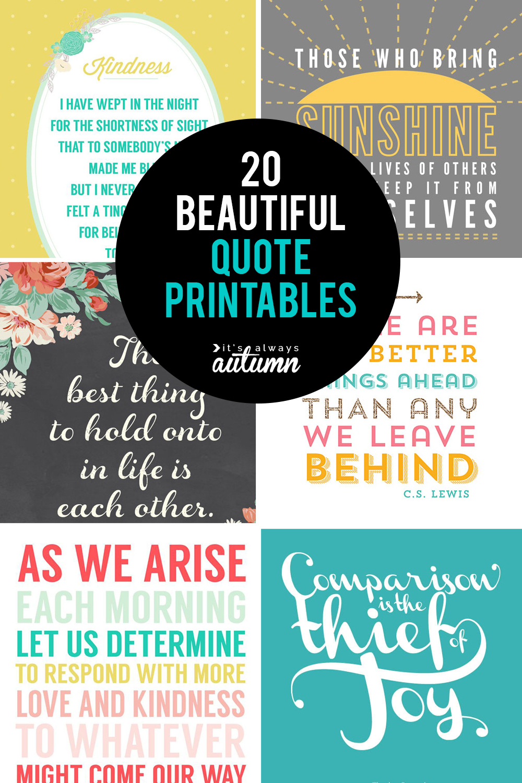 20 Gorgeous Printable Quotes   Free Inspirational Quote Prints - Free Printable Quote Stencils