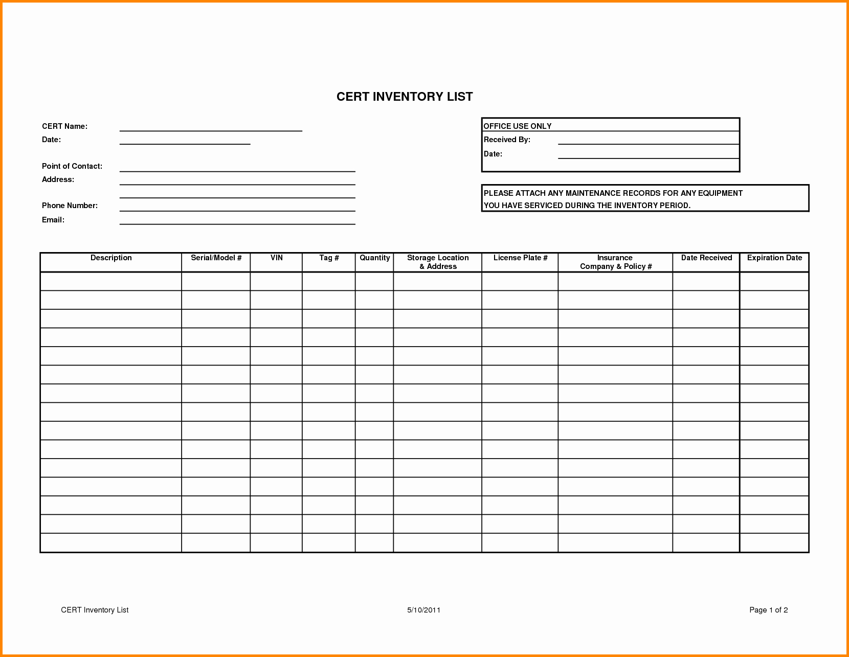 20 Inventory For Small Business Free – Guiaubuntupt - Free Printable Inventory Sheets Business