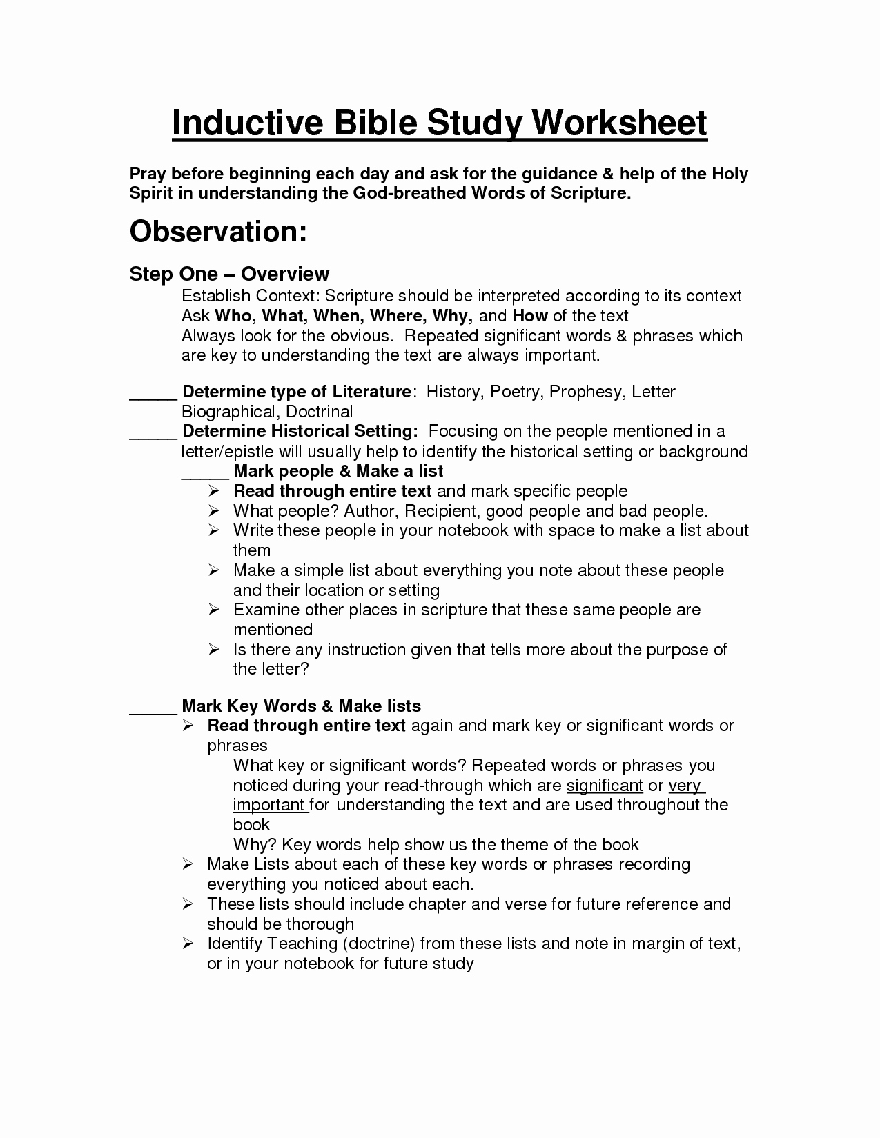 20 Printable Bible Study Worksheets – Diocesisdemonteria - Free Printable Bible Study Worksheets For Adults