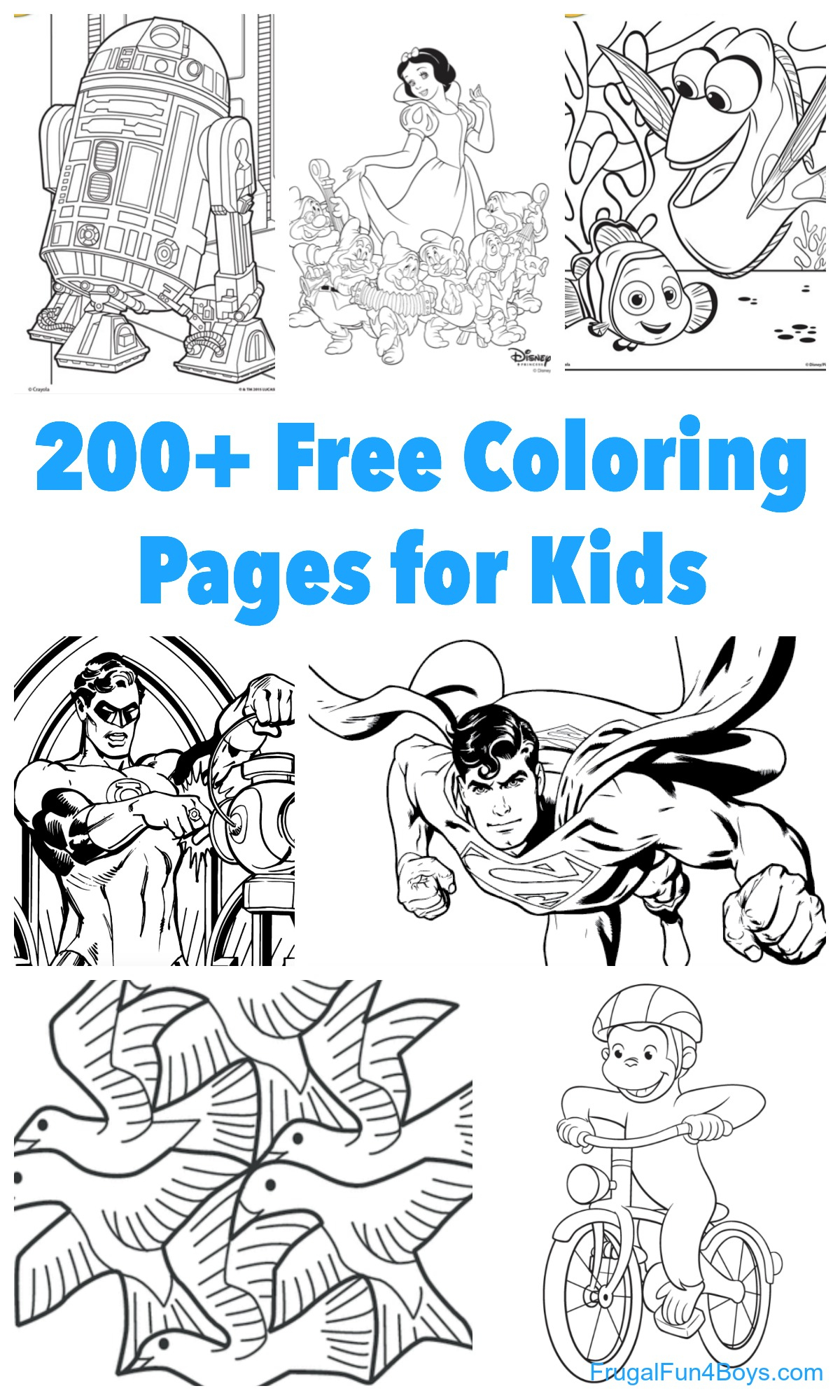 200+ Printable Coloring Pages For Kids - Frugal Fun For Boys And Girls - Free Printable Coloring Sheets