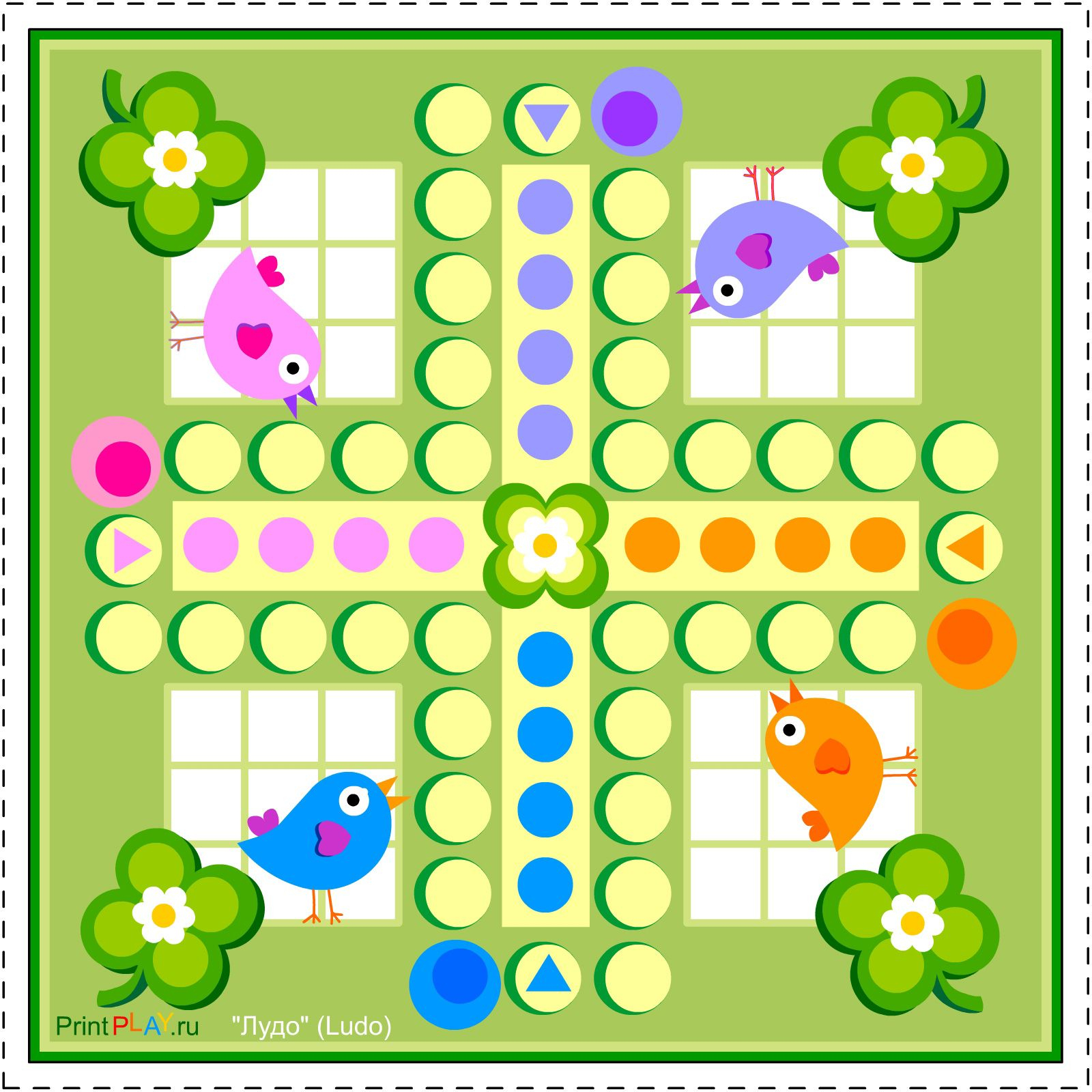 2014-08) Ludo Med Fugle | Jeux | Pinterest | Games, Board Games Et - Free Printable Ludo Board