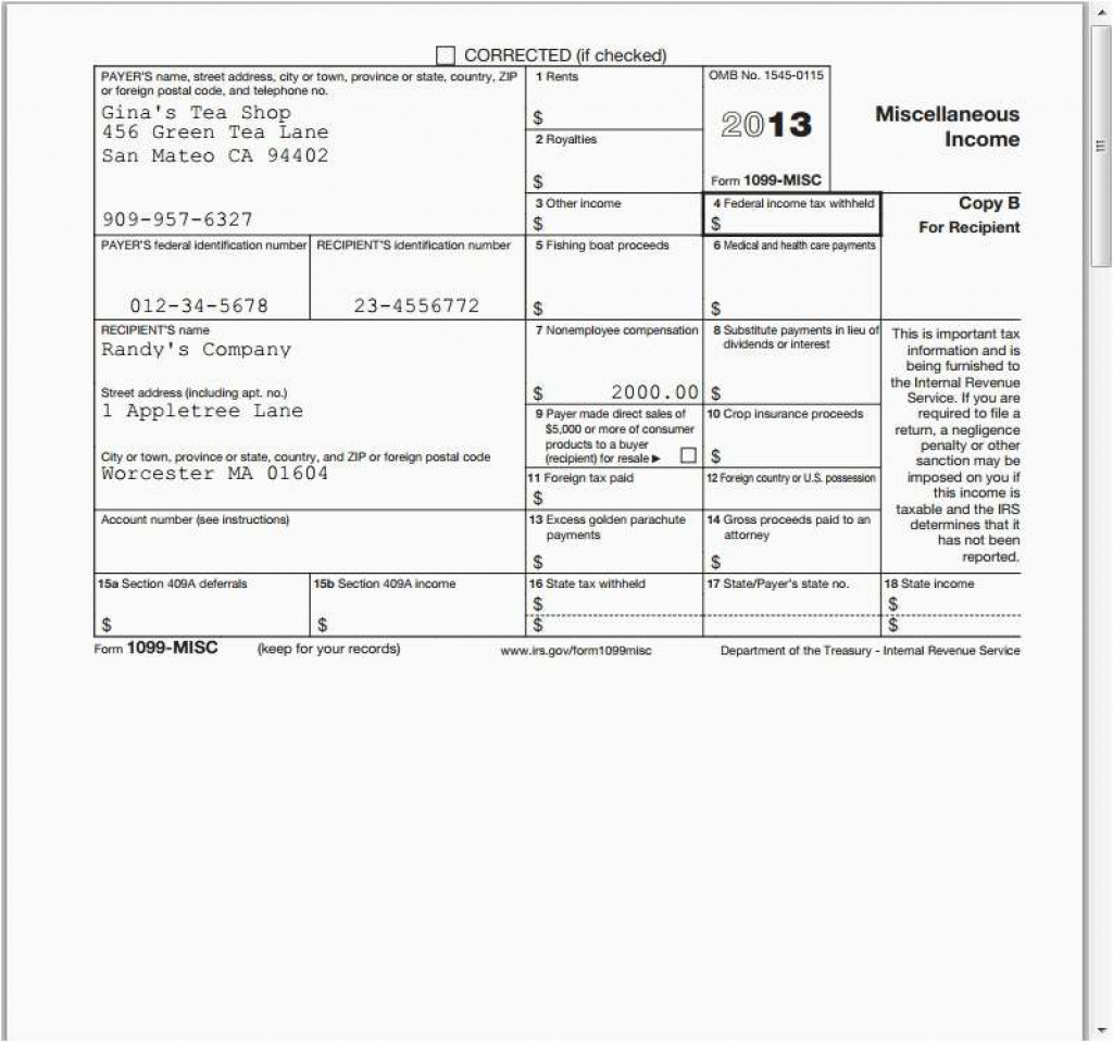 2014 Form 1099 Picture Funky 1099 Misc Form Template Gallery Example - Free 1099 Form 2013 Printable