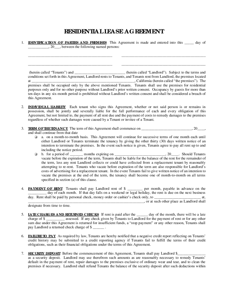 2019 Rental Agreement - Fillable, Printable Pdf & Forms   Handypdf - Rental Agreement Forms Free Printable