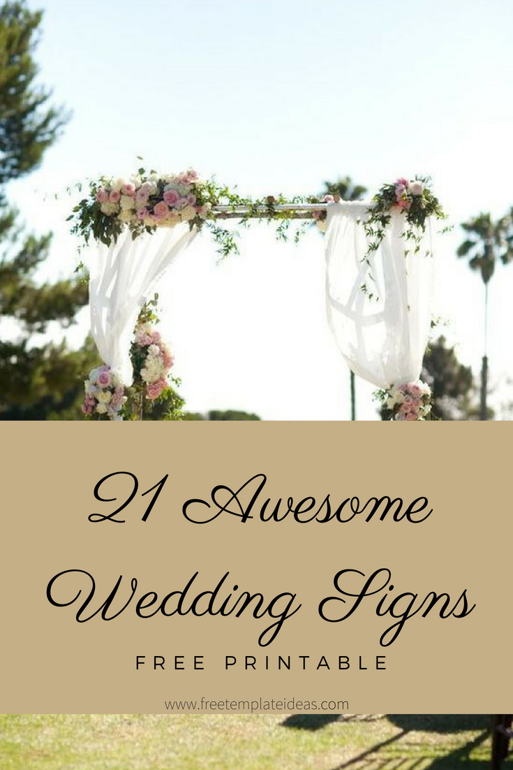 21+ Awesome Free Printable Wedding Signs | Printables Group Board - Free Printable Wedding Decorations