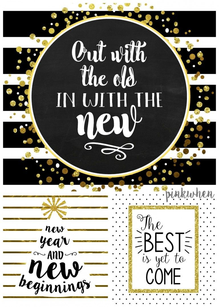 21 Free New Year's Eve Printables & Decor Ideas At Printable Crush - Free Printable Happy New Year Cards