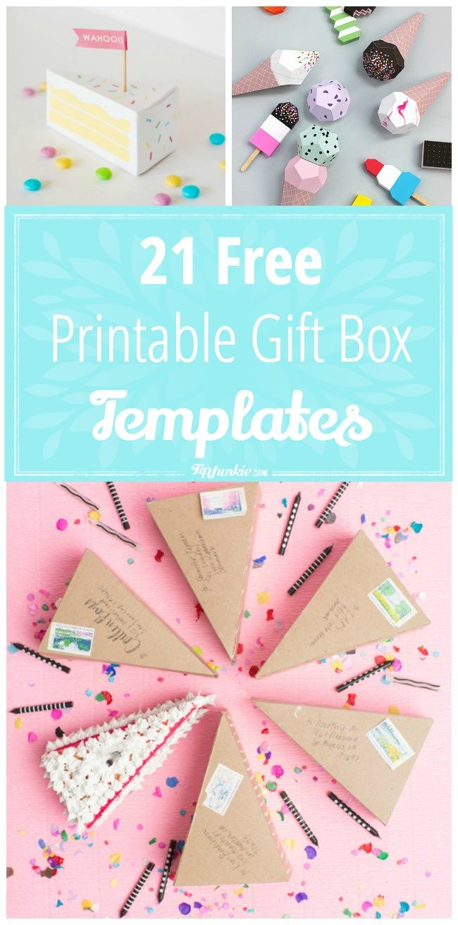 21 Free Printable Gift Box Templates   ** Free Printables - Gift Box Templates Free Printable