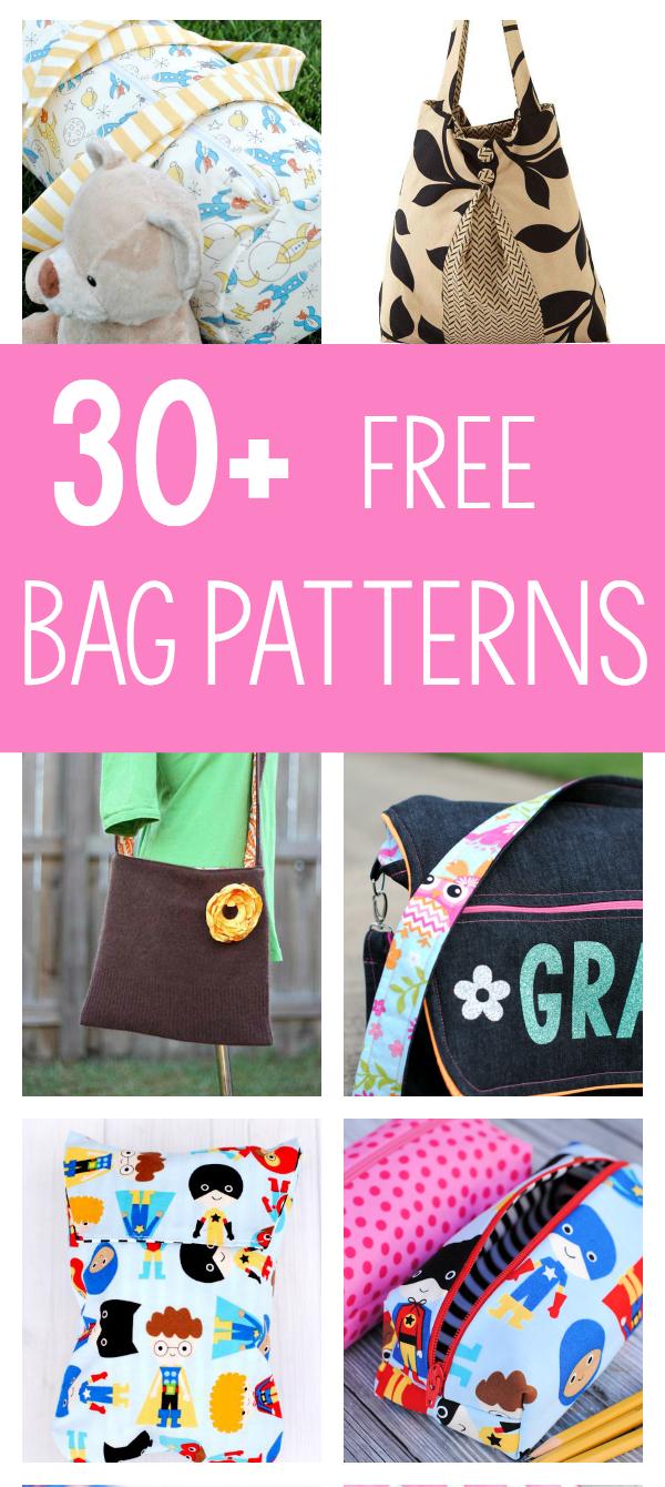 25 Bag Sewing Patterns - Handbag Patterns Free Printable
