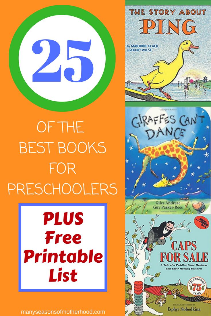 25 Of The Best Books For Preschoolers | Pre K/k | Pinterest - Free Printable Pre K Reading Books