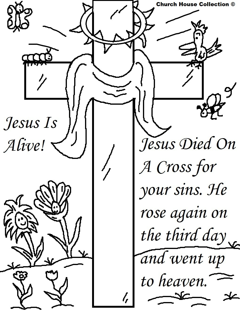25 Religious Easter Coloring Pages   Free Easter Activity Printables - Free Easter Color Pages Printable