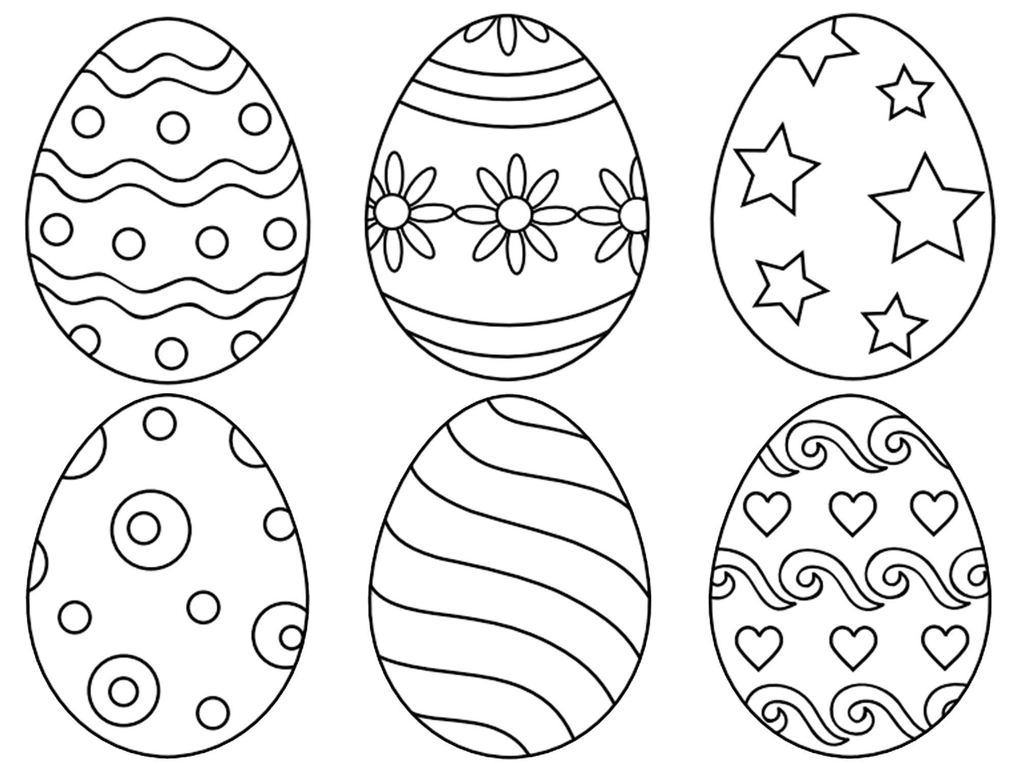 271 Free, Printable Easter Egg Coloring Pages - Free Printable Easter Stuff