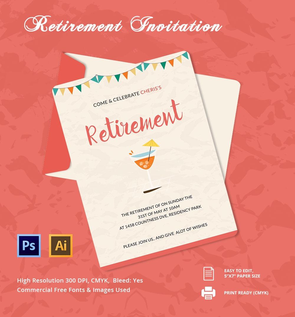 29+ Retirement Invitation Templates - Psd, Ai, Word | Free & Premium - Free Printable Retirement Party Flyers