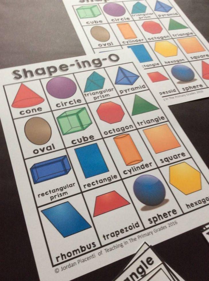 3D Shape Bingo Free Printable