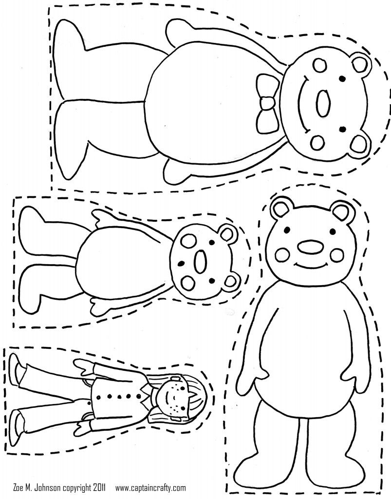 3 Bears Printable- Want Use To Make Magnet Board Pieces For - Free Printable Goldilocks And The Three Bears Story
