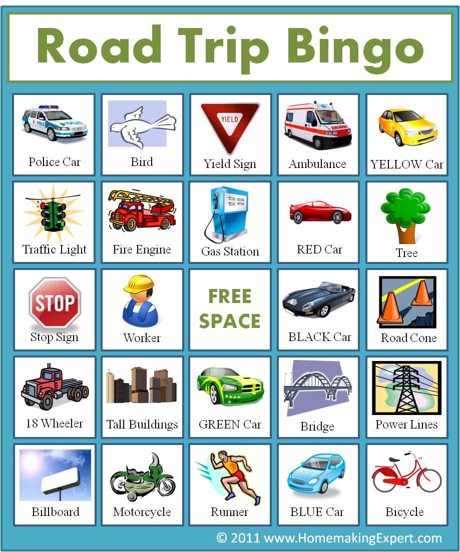 3 Car Bingo Games { Free Printable} - 24/7 Moms - Free Printable Car Bingo