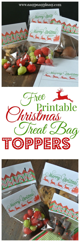 3 Free Printable Christmas Treat Bag Toppers   Easy Peasy Pleasy - Free Printable Christmas Bag Toppers