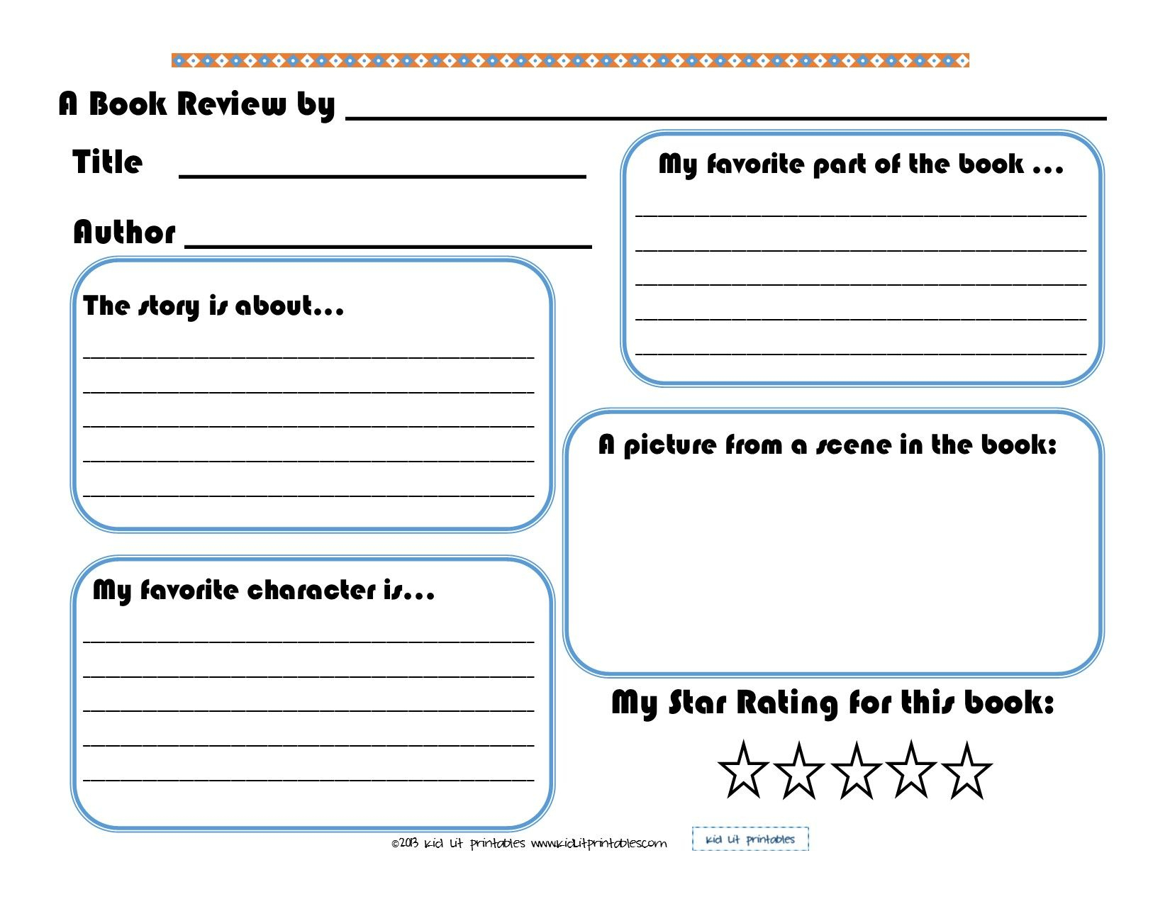 3 Levels Of Free Printable Book Reports From Kid Lit Printables - Free Printable Book Report Forms For Elementary Students
