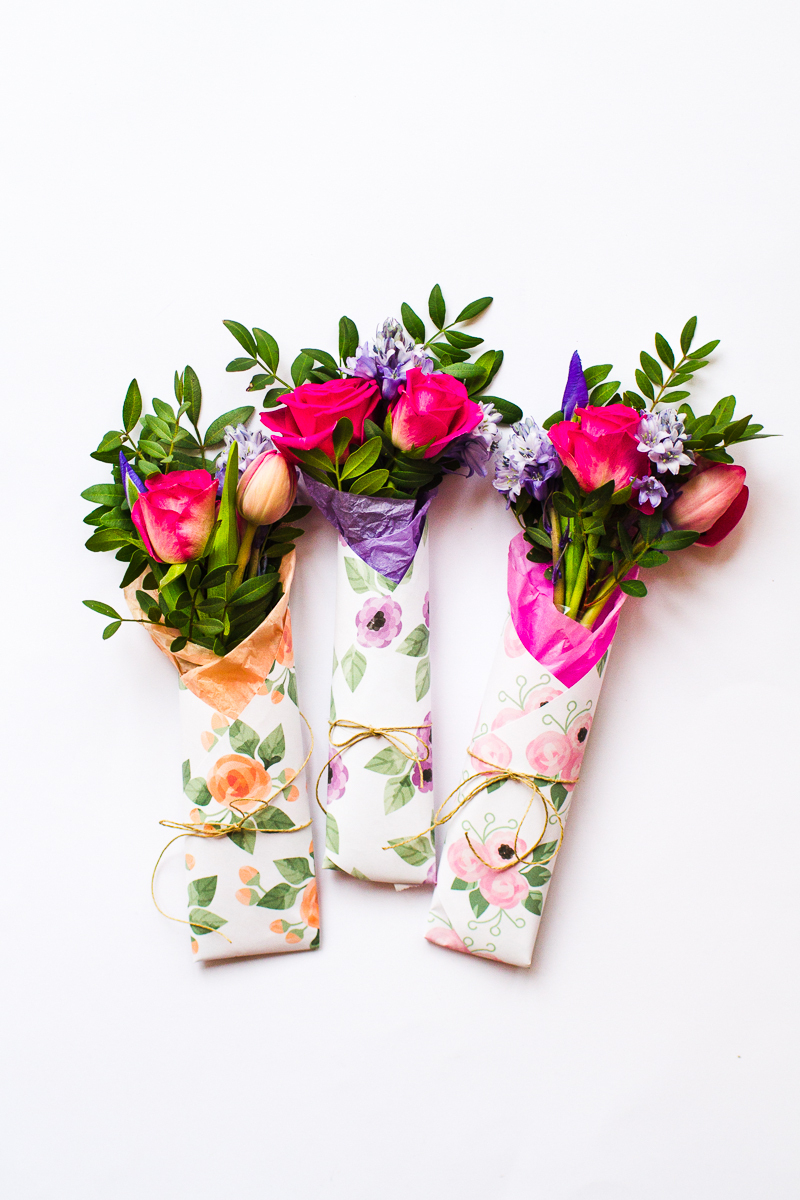 3 Mothers Day Gift Free Printable Flower Wraps | Bespoke-Bride - Free Printable Flowers