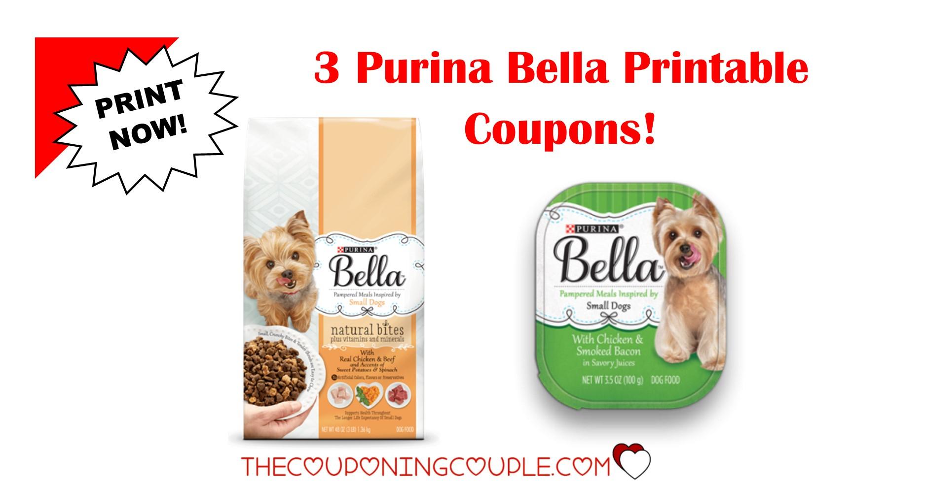 3 New Purina Bella Dog Food Printable Coupons ~ Print Now! - Free Printable Dog Food Coupons
