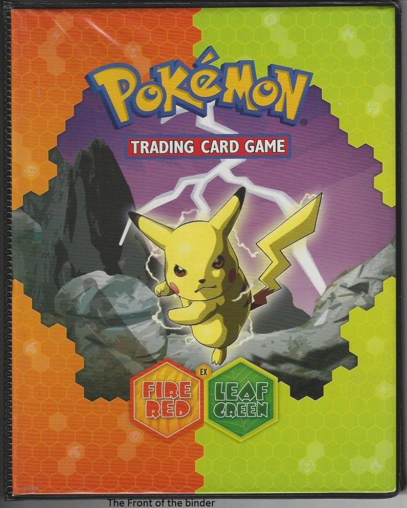 3 Pokemon Leafgreen Firered Card Holder Binder Charizard Back Cover - Pokemon Binder Cover Printable Free