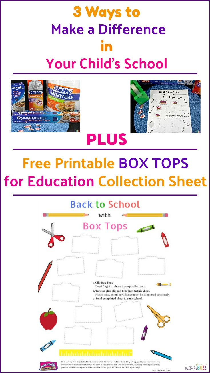 3 Ways To Help Your Child's School + Free Box Tops Collection Sheet - Free Printable Box Tops For Education