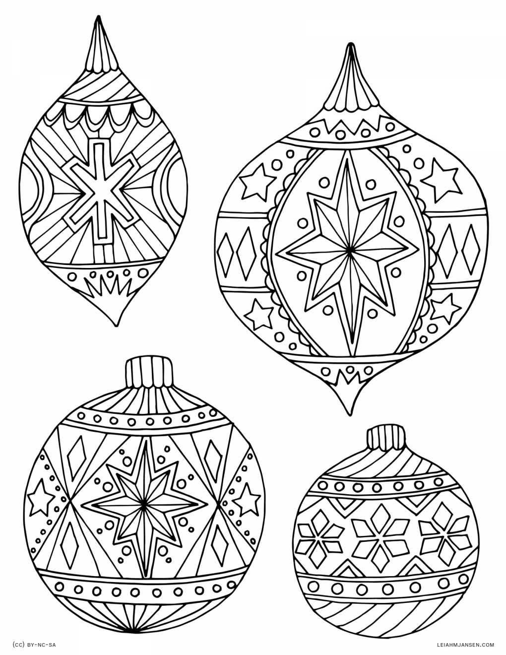 30 Cheerful Printable Christmas Ornaments   Kittybabylove - Free Printable Christmas Ornament Patterns