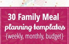 30 Family Meal Planning Templates {Weekly, Monthly, Budget} – Tip Junkie – Free Printable Monthly Meal Planner