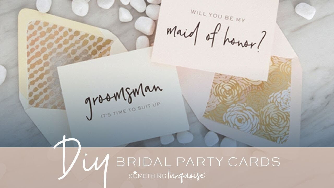 """30+ Free Printable """"will You Be My Bridesmaid?"""" Cards! - Youtube - Free Printable Will You Be My Bridesmaid Cards"""