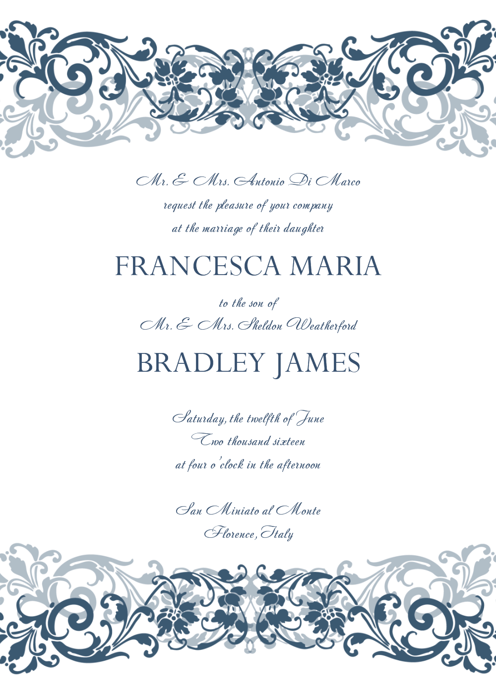 30+ Free Wedding Invitations Templates | 21St - Bridal World - Free Printable Wedding Cards