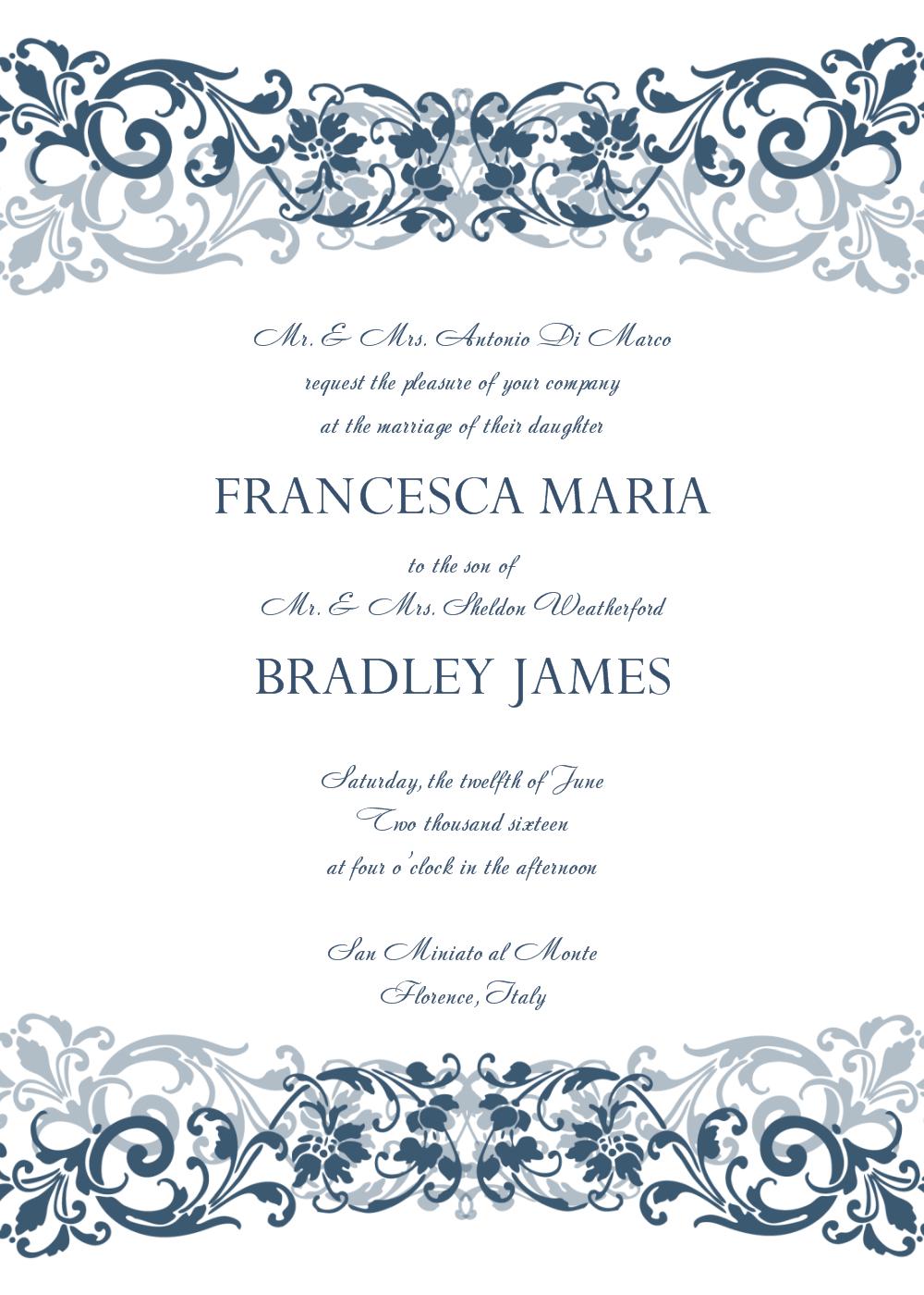 30+ Free Wedding Invitations Templates   21St - Bridal World - Free Printable Wedding Scrolls