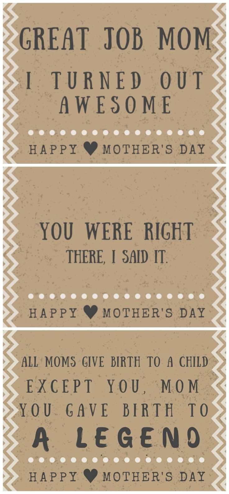 30 Funny Mother's Day Cards - Free Printables With Hilarious Quotes - Free Printable Funny Mother's Day Cards