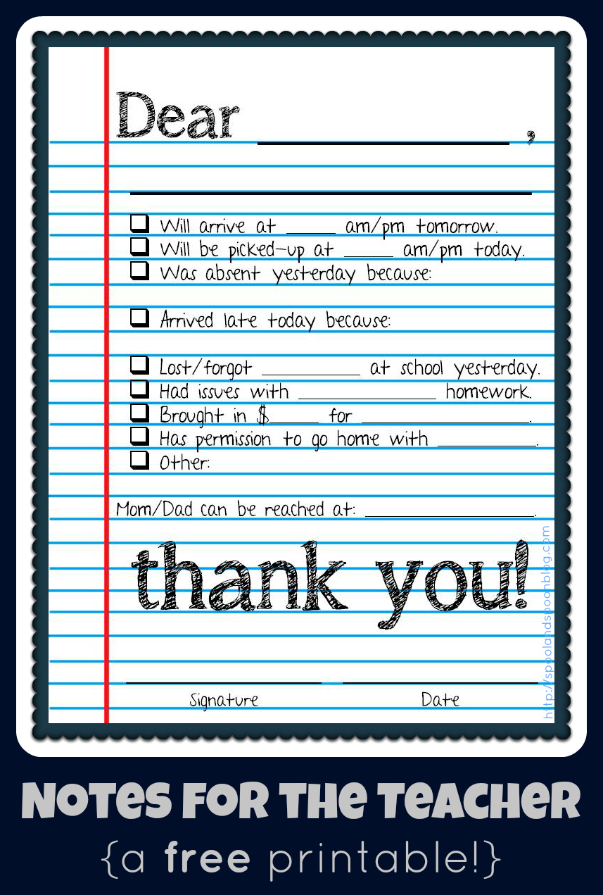 30 Images Of Conference Notes Template For Teachers | Bfegy - Free Printable Teacher Notes To Parents