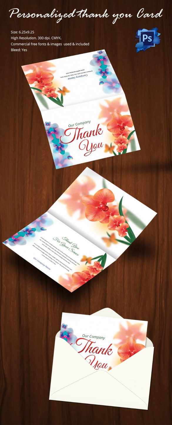 30+ Personalized Thank You Cards - Free Printable Psd, Eps Format - Free Personalized Thank You Cards Printable