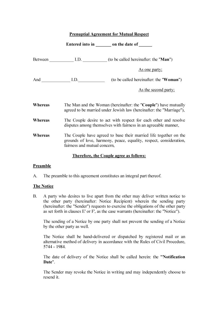 30+ Prenuptial Agreement Samples & Forms - Template Lab - Free Printable Prenuptial Agreement Form