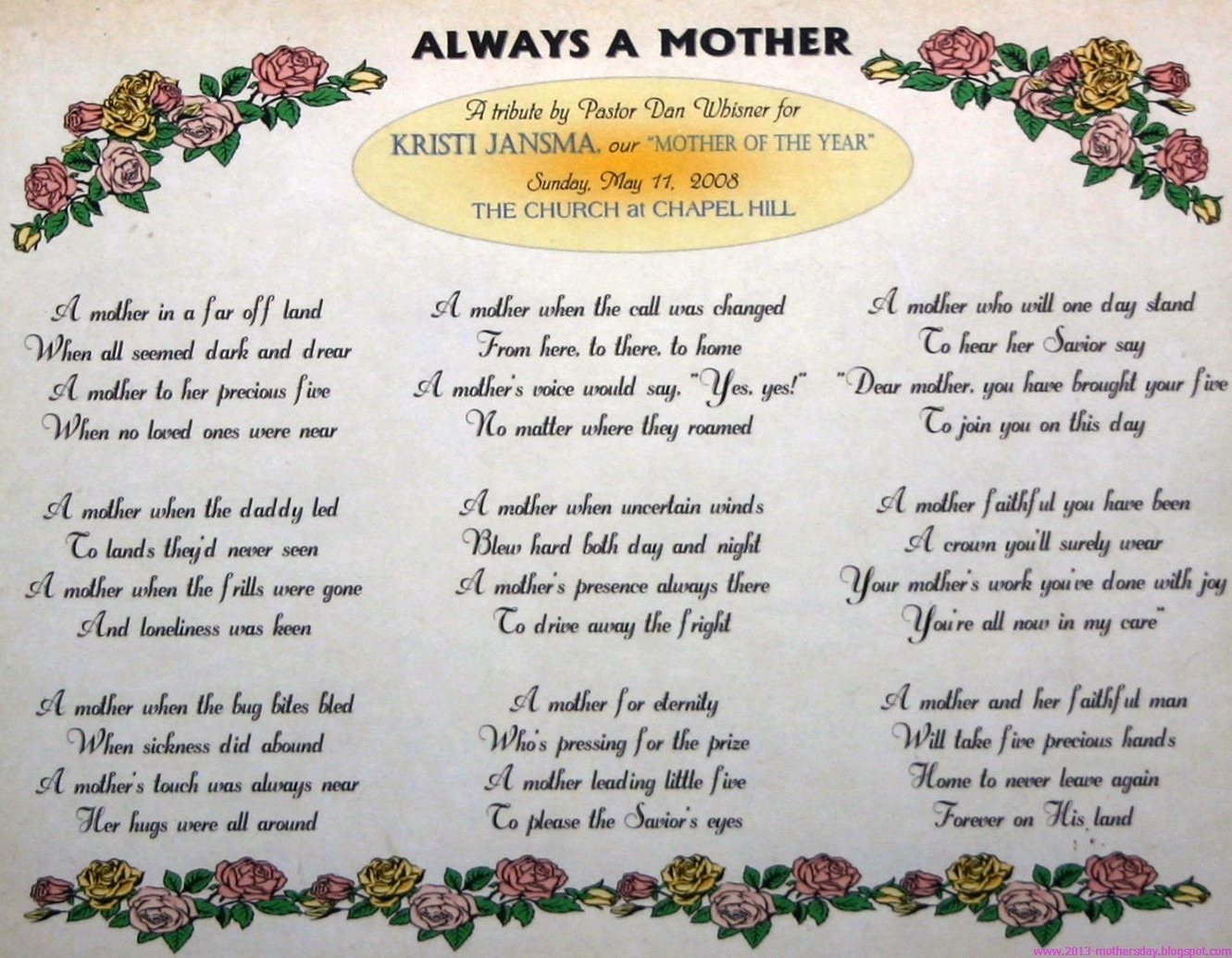 30 Touching Mothers Day Poems From Kids - Free Printable Mothers Day Poems