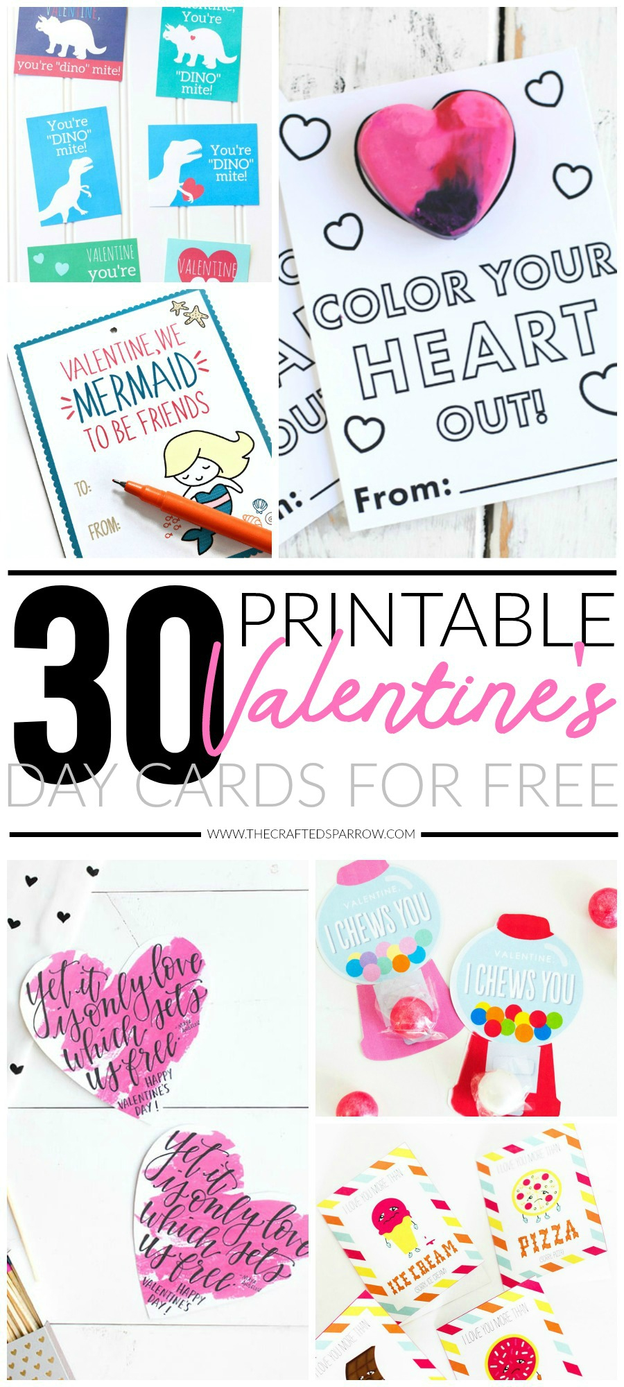 30 Valentines Day Printable Cards - Free Printable Valentines Day Cards