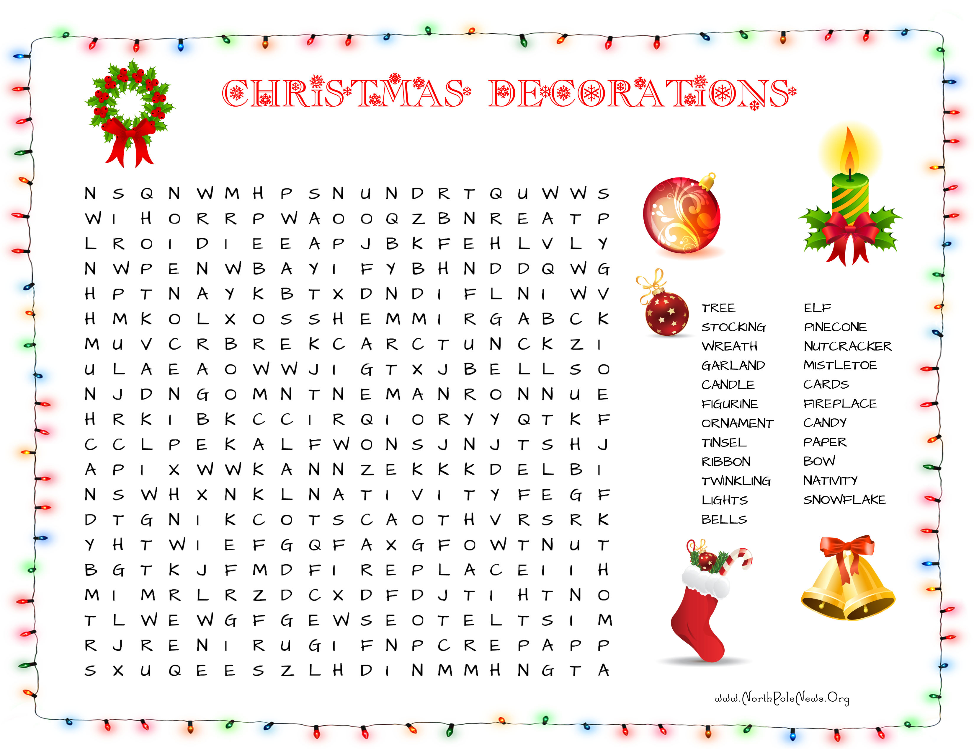 31 Free Christmas Word Search Puzzles For Kids - Free Printable Large Print Word Search