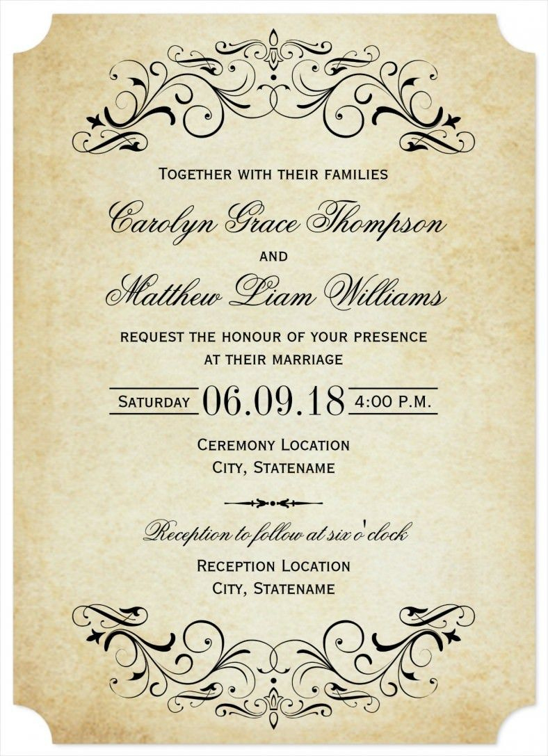 32+ Amazing Image Of Free Printable Wedding Invitation Templates - Free Printable Wedding Invitations Templates Downloads