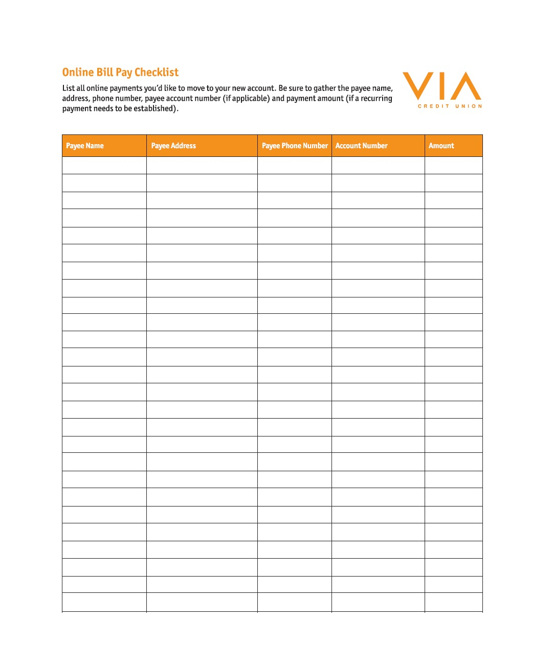 32 Free Bill Pay Checklists & Bill Calendars (Pdf, Word & Excel) - Free Printable Monthly Bill Checklist