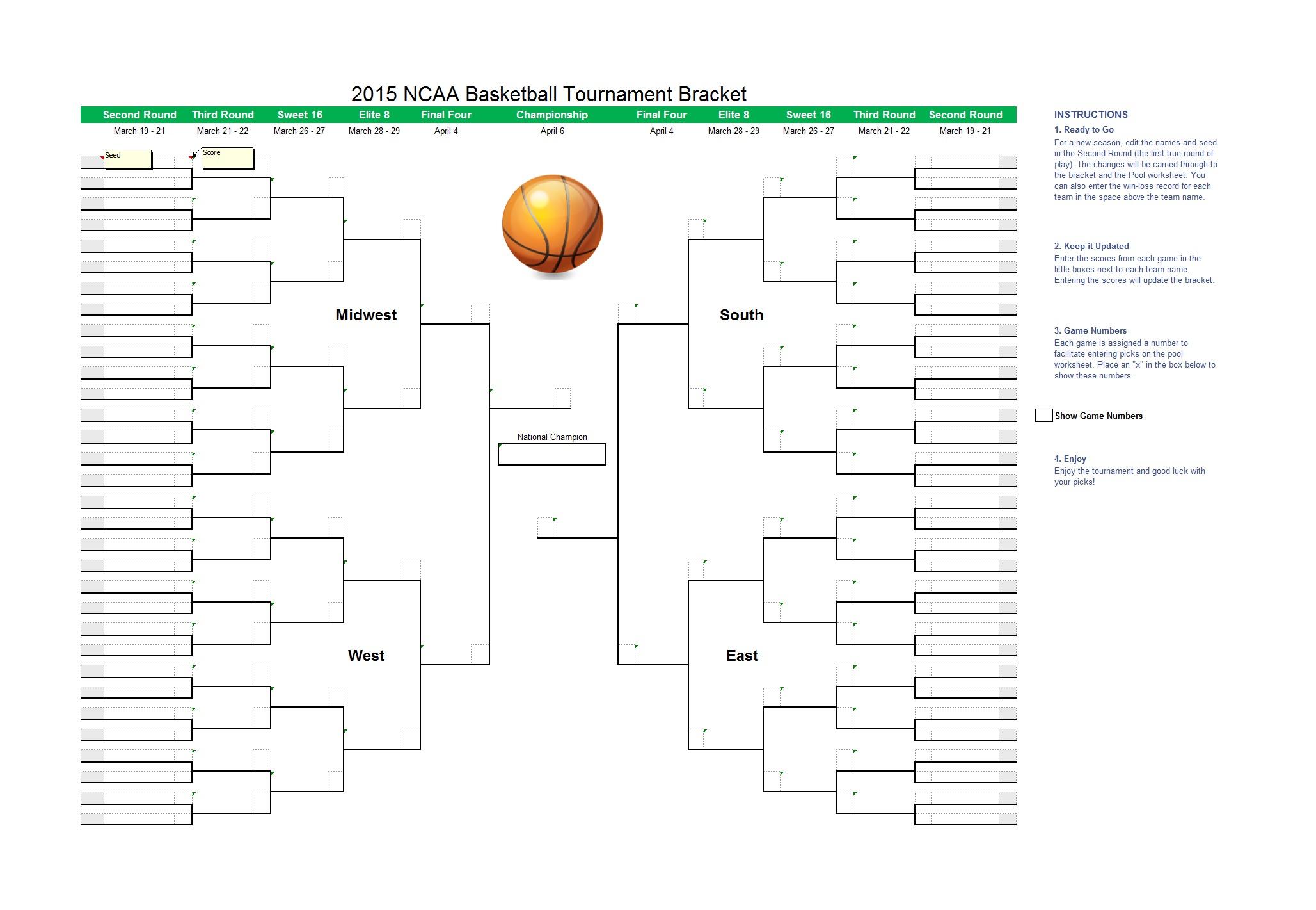 34 Blank Tournament Bracket Templates (&100% Free) - Template Lab - Free Printable Brackets