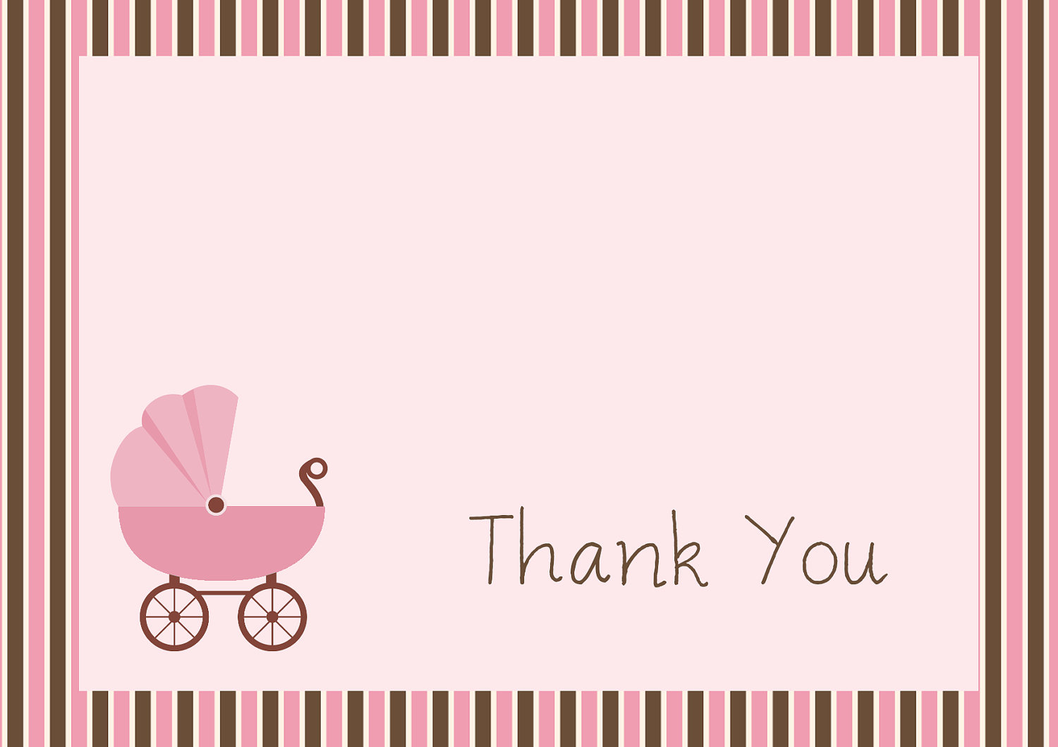34 Printable Thank You Cards For All Purposes Kitty Baby How To Lose - Free Printable Baby Shower Thank You Cards