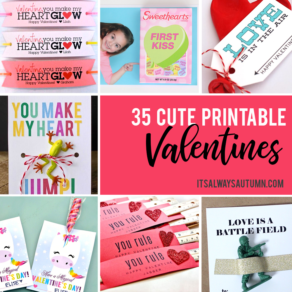 35 Adorable Diy Valentine's Cards To Print At Home For Your Kids - Free Printable Valentine Cards For Kids