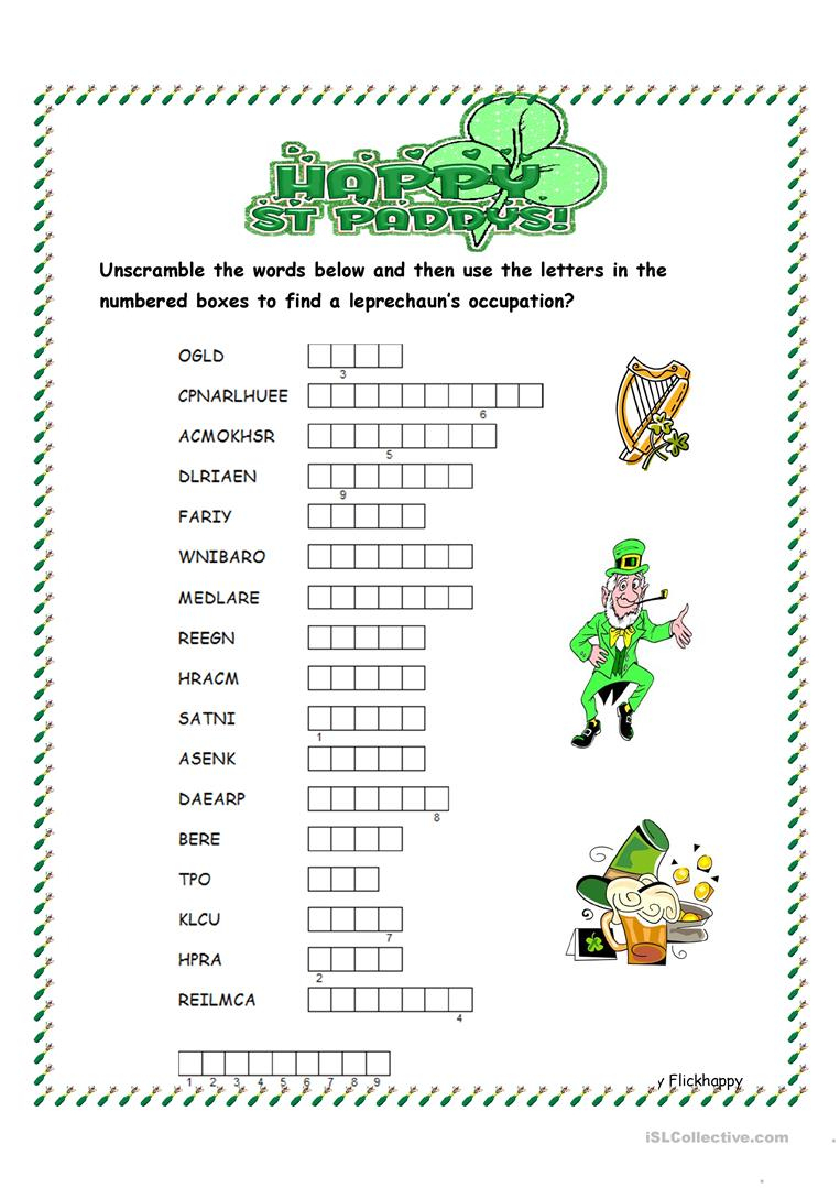 35 Free Esl Word Scramble Worksheets - Free Printable Word Scramble Worksheets