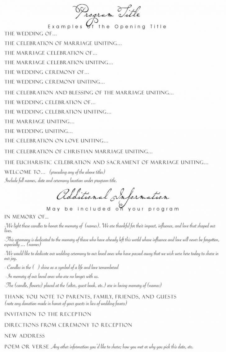 Free Printable Wedding Program Templates