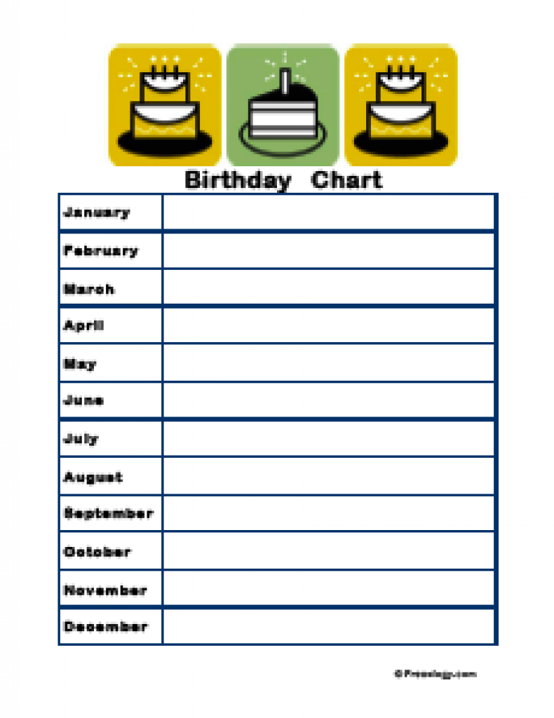 4 Birthday Charts - Freeology Regarding Free Printable Birthday - Free Printable Birthday Graph