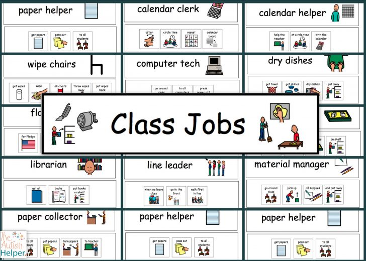 Free Printable Classroom Helper Signs