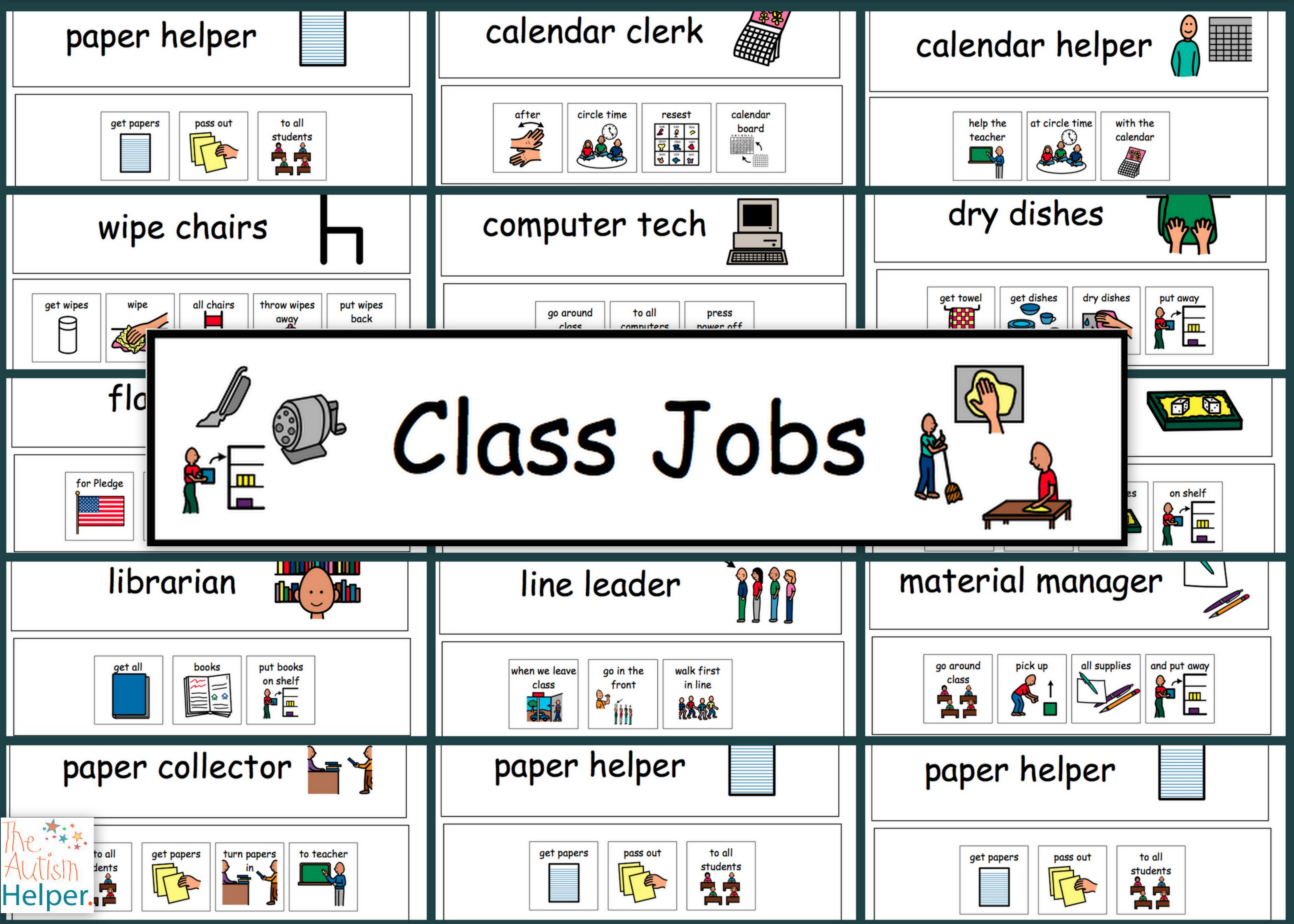 4. Classroom Jobs Set 2 The Autism Helper, Free Classroom Helpers - Free Printable Classroom Helper Signs