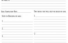 4 Free Goal Setting Worksheets – Free Forms, Templates And Ideas To - Free Printable Goal Setting Worksheets For Students