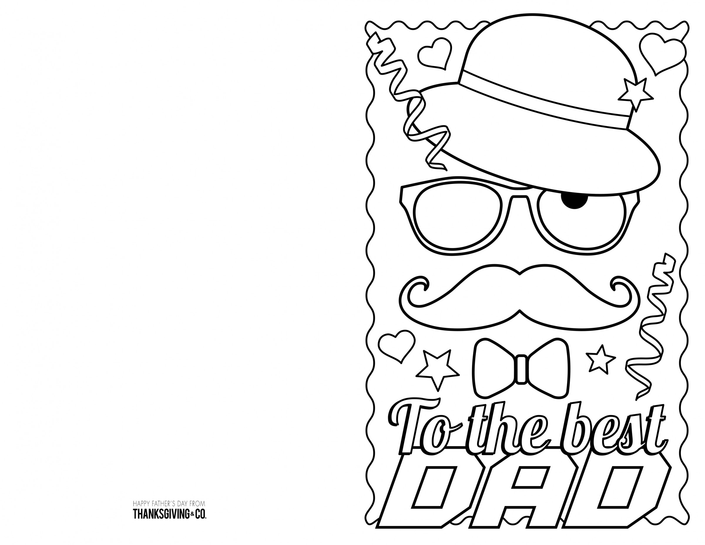 4 Free Printable Father's Day Cards To Color - Thanksgiving - Free Printable Fathers Day Cards