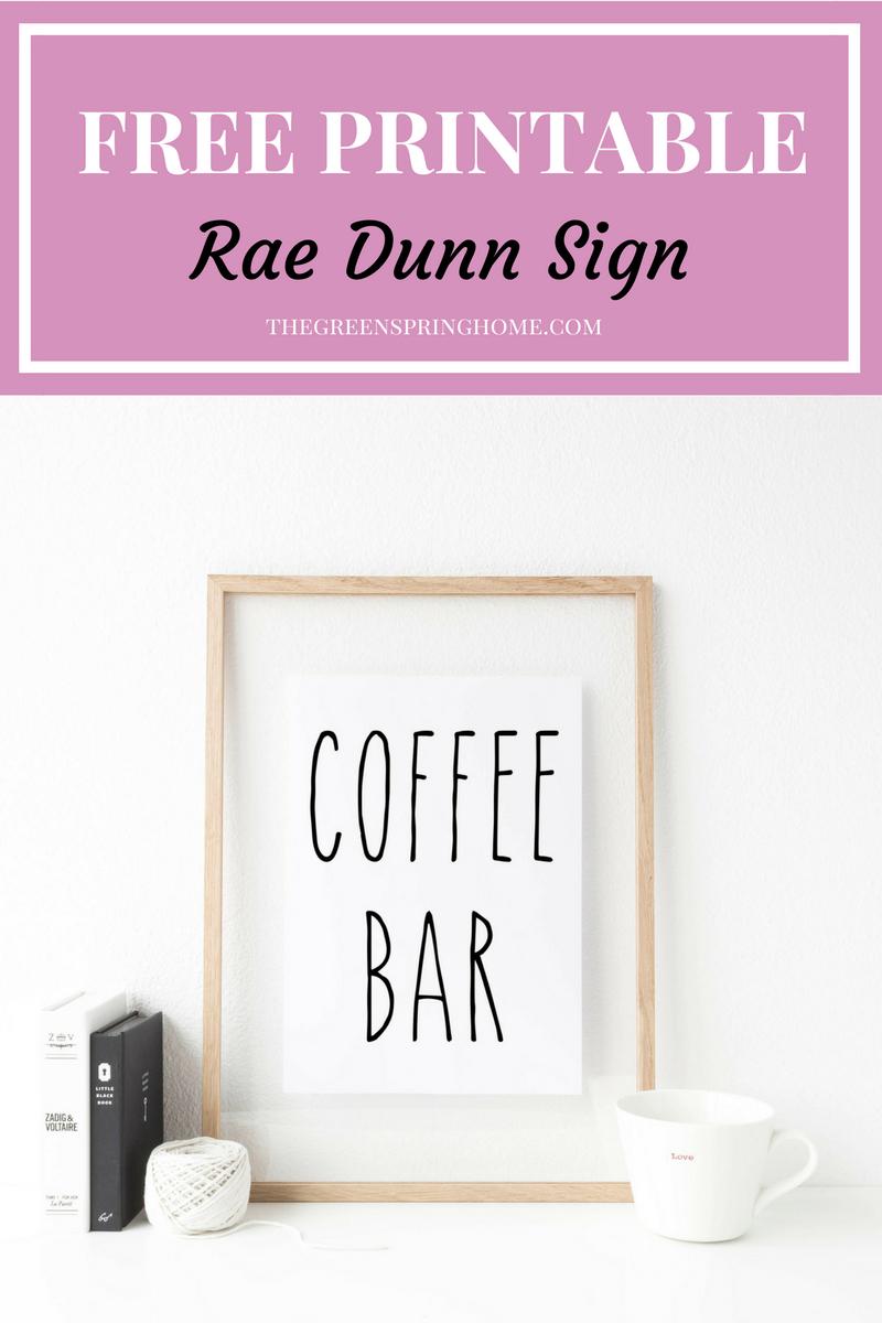 4 Reasons To Love Rae Dunn Mugs   Printables Love   Coffee Bar Signs - Free Printable Coffee Bar Signs